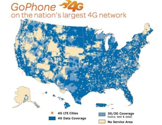 AT&T Netzabdeckung
