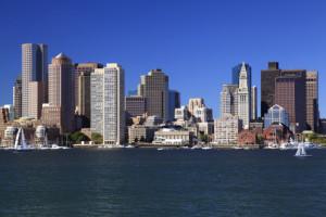 Boston - Hafen und Skyline