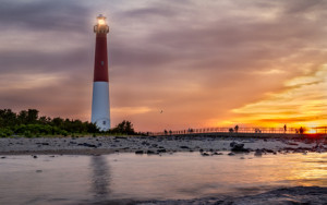 Sonnenuntergang am Barnegat Lighthouse