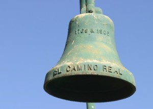 El Camino Real Bell along the El Camino Real in California