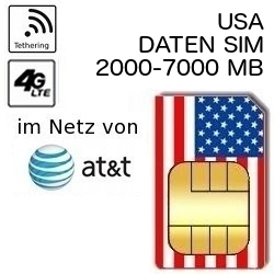 Usa Sim Prepaid Datenkarte Im At T Netz Prepaid Discount De