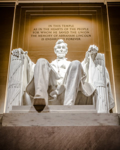 Lincoln Memorial statue of Abraham Lincoln