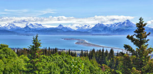 Alaska Berge and Buchten, Homer Spit, Kenai Halbinsel