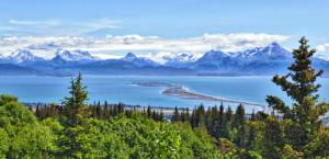 Alaska Berge and Buchten, Homer Spit, Kenai Halbinsel