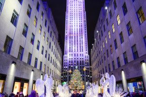 Christmas decorations at Rockefeller Center