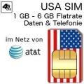 USA SIM 1-6gb AT&T